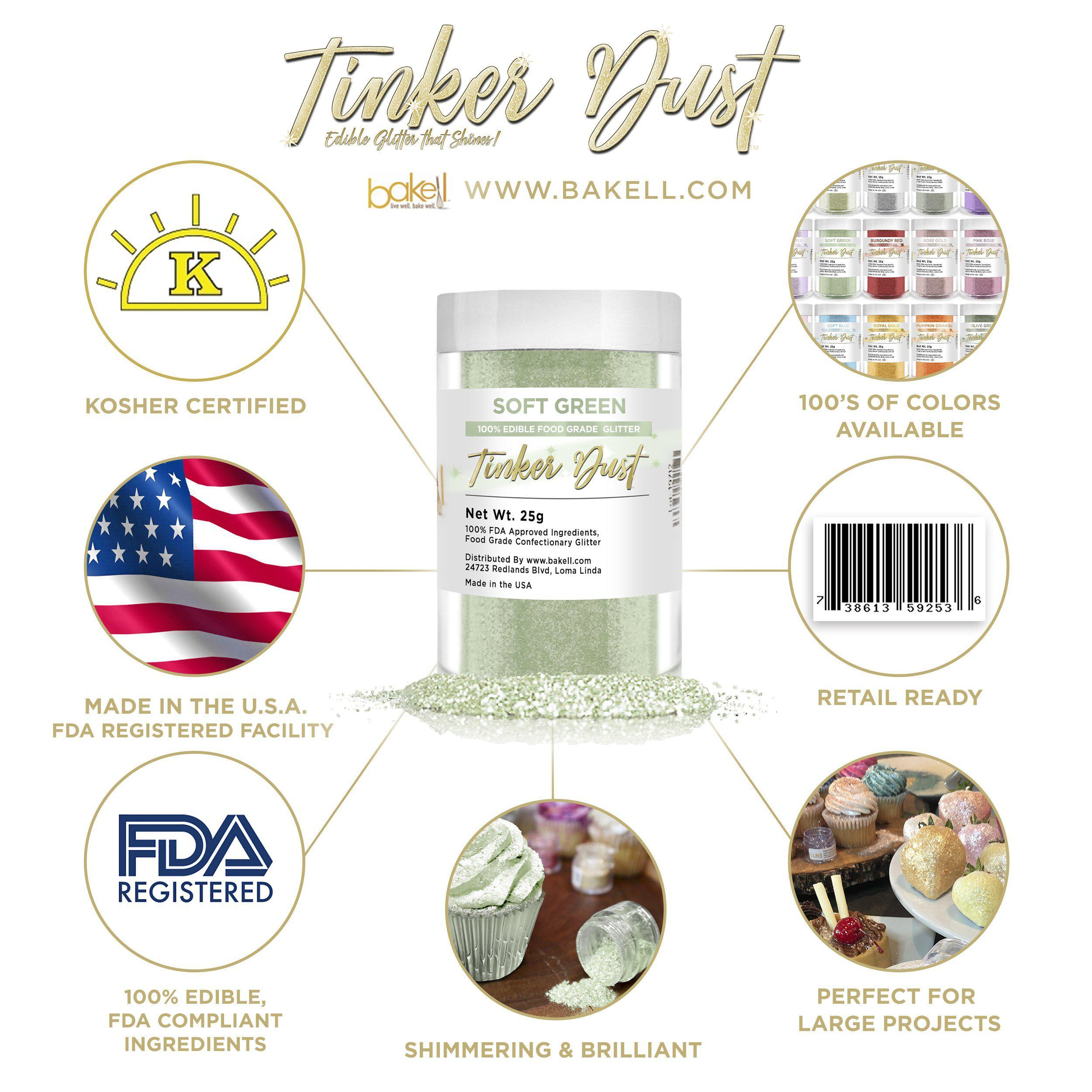 Soft Green Tinker Dust | Bulk Sizes-Bulk_Tinker Dust-Bakell