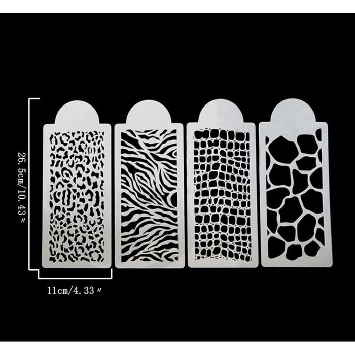 Animal and Jungle Print Large 4 PC Stencil Set-Stencils-Bakell- | Bakell.com