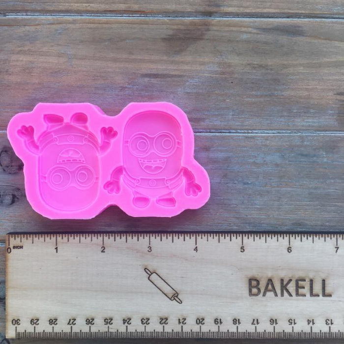 Happy Minions, Despicable Me Themed Silicone Mold-Silicone Molds-Bakell- | Bakell.com