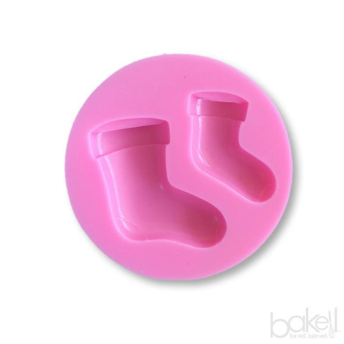Christmas Stocking Silicone Mold, 2.75 Inches | Bakell-Silicone Molds-Bakell- | Bakell.com