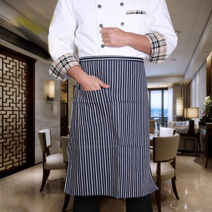Classic Polyester Stripped Utility Apron with Pockets | 2 PC Set-Accessories & Tools-BBQthingz- | Bakell.com