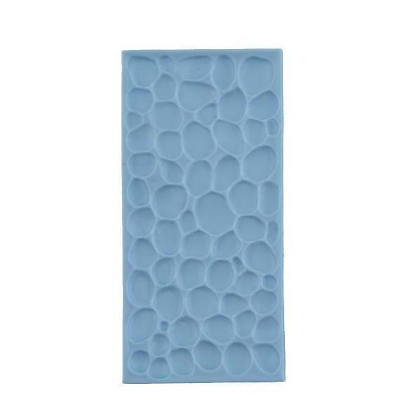 Cobble Stone Rock Wall Pattern Plastic Mold | Bakell-Silicone Molds-Bakell- | Bakell.com