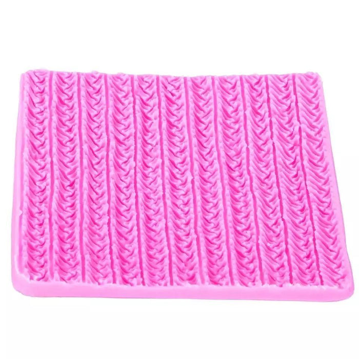 Crochet Fabric Pattern Silicone Mold | 4 Inch from Bakell.com