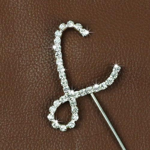 Crystal Monogram Topper - Small - L-Cake Toppers-Bakell- | Bakell.com