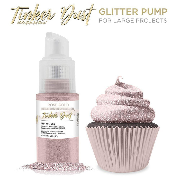 Rose Gold Tinker Dust Edible Glitter Spray Pump-Tinker Dust_Pump-Bakell