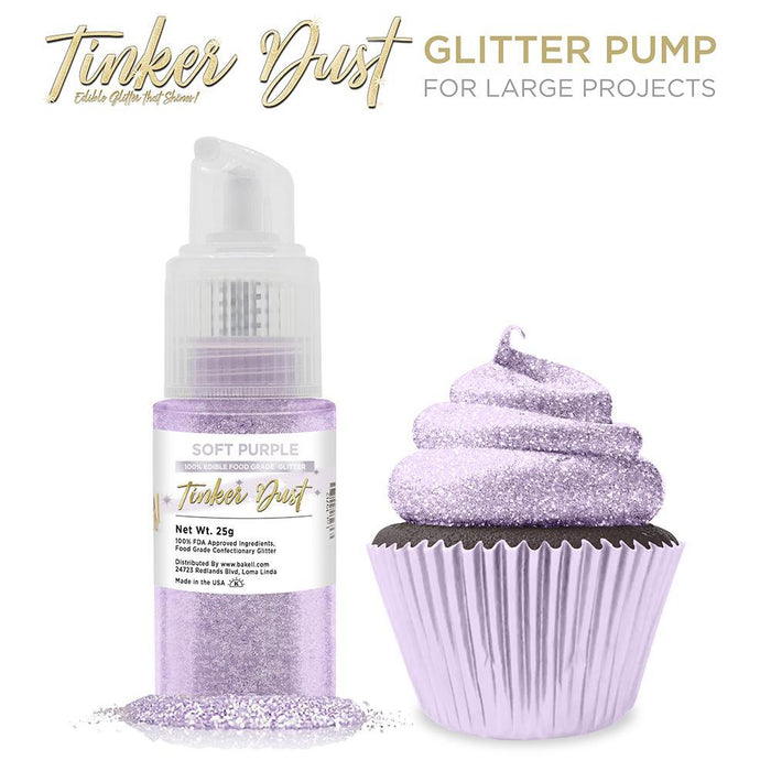 Soft Purple Tinker Dust Edible Glitter Spray Pump-Tinker Dust_Pump-Bakell