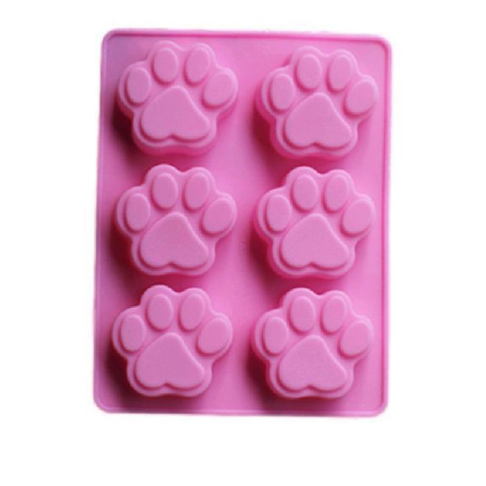 Dog and Puppy Paw Prints Decorating Silicone Mold | Bakell-Silicone Molds-Bakell- | Bakell.com