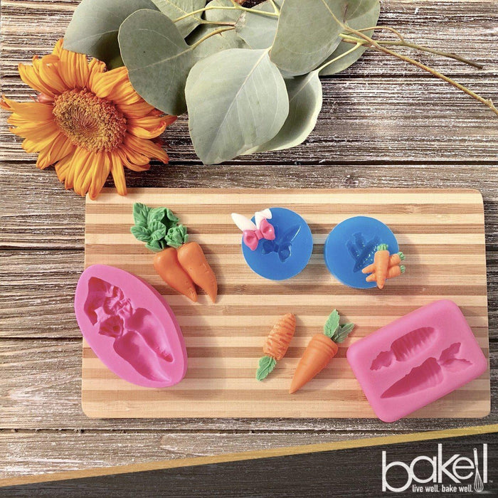 Easter Rabbit Ears and Bow Silicone Mold, 1 Inch | Bakell-Silicone Molds-Bakell- | Bakell.com