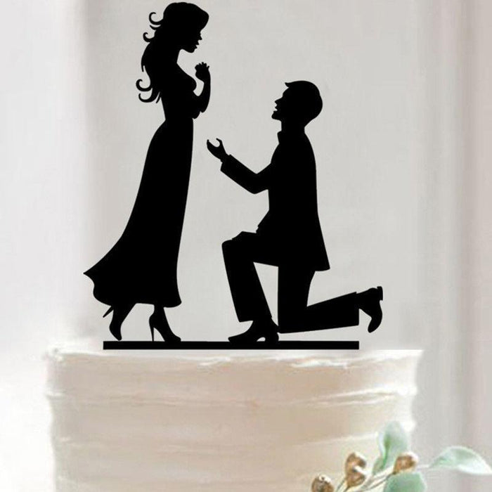 Engagement Proposal - Wedding Cake Topper-Cake Toppers-Bakell- | Bakell.com