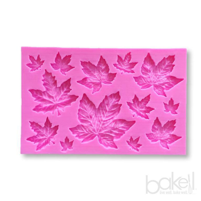 Fall Oktoberfest Tree Maple Leaf Halloween Thanksgiving Leaves Silicone Mold-Silicone Molds-Bakell- | Bakell.com