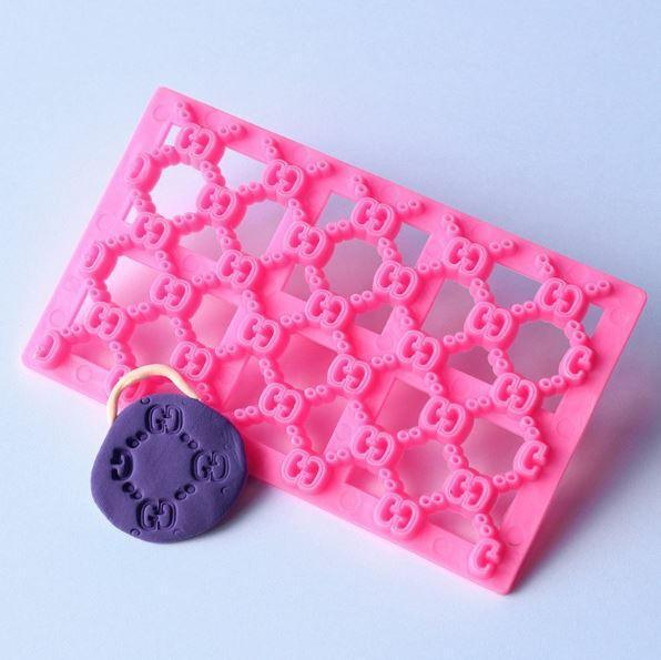 Fashion Print Square Impression Embossing Small Pattern Stamp-Decorating Tools-Bakell