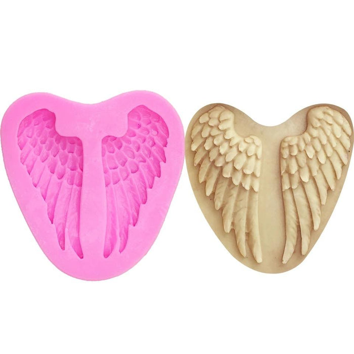Feathered Angel Wings Silicone Mold | 2.5 Inch from Bakell.com