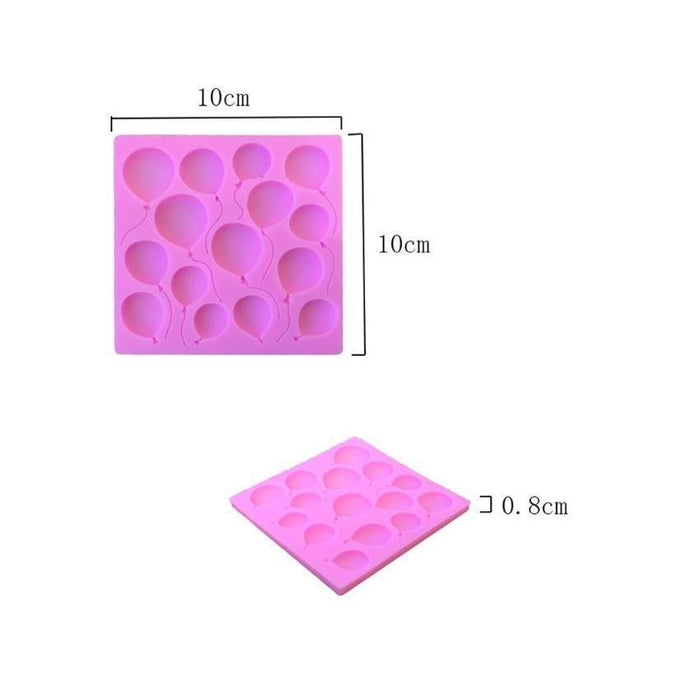 Flying Birthday Balloon Silicone Mold 4x4 inches | Bakell