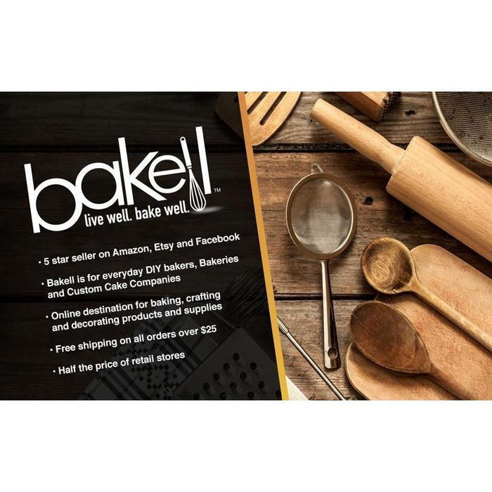 Fondant and Gum-paste rolling pin with depth band attachments-Decorating Tools-Bakell- | Bakell.com