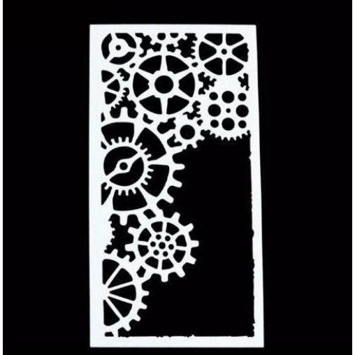 Gears and Watch Gears Steam Punk Stencil-Stencils-Bakell- | Bakell.com