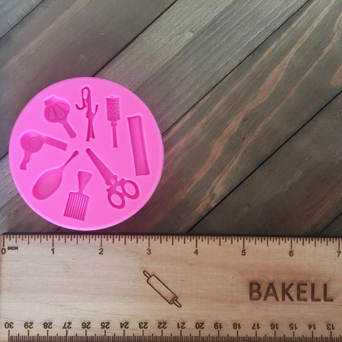 Hair Salon and Night Out Silicone Mold-Silicone Molds-Bakell- | Bakell.com
