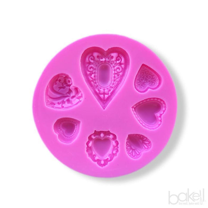 Heart Pendant Silicone Mold-Silicone Molds-Bakell- | Bakell.com