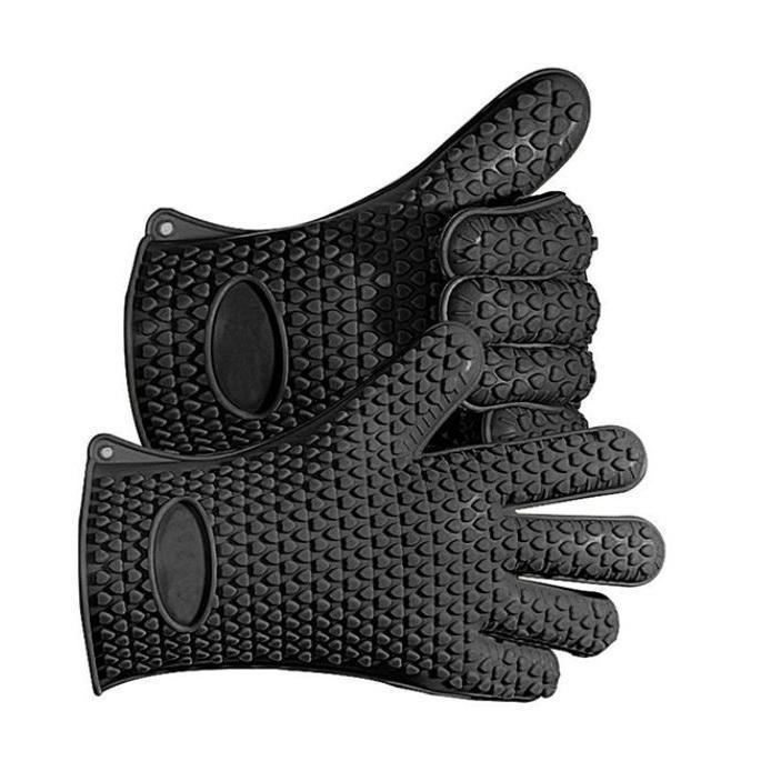 Heavy Duty Silicone Grilling Glove Oven Mitts | BBQthingz™-Accessories & Tools-BBQthingz- | Bakell.com