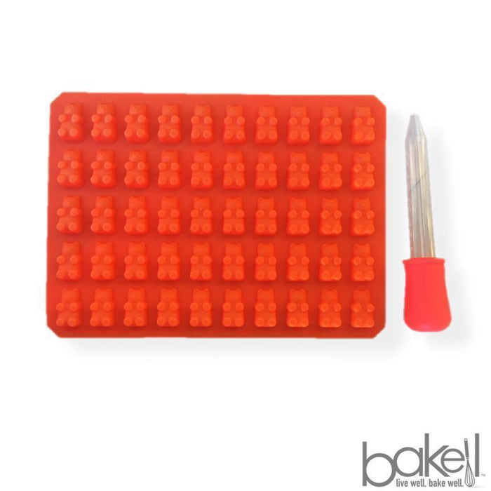 Homemade Gummy Bear Making Kit Silicone Mold and Dropper - Orange-Silicone Molds-Bakell- | Bakell.com