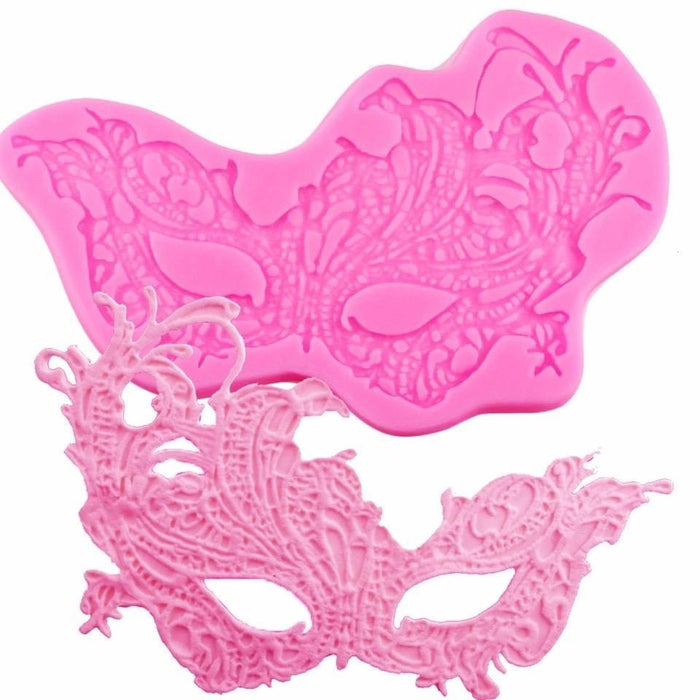 Mardi Gras Ball Mask Silicone Mold Large 8x5 inches | Bakell-Silicone Molds-Bakell- | Bakell.com
