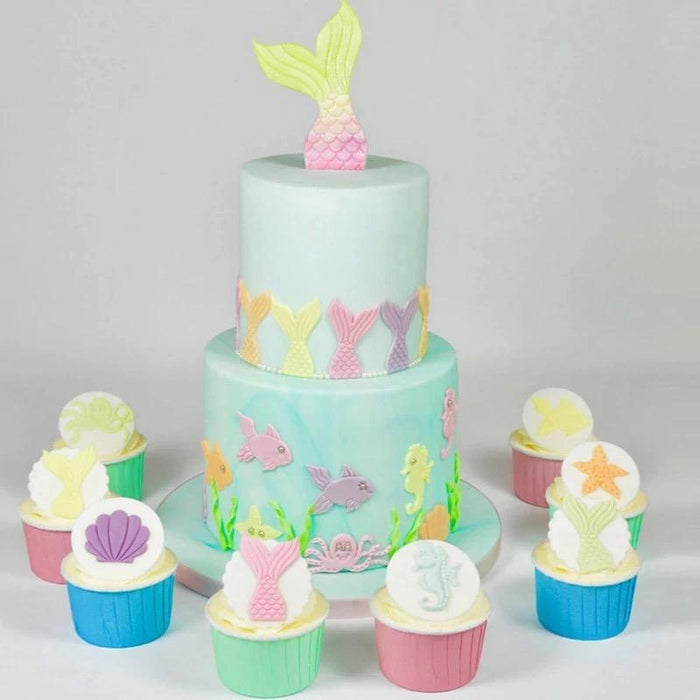 Mermaid, Seashell & Fish Themed Fondant & Gumpaste Tool Set | Bakell