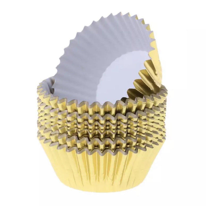 Metallic Gold Cupcake Liners & Wrappers-Wrappers & Liners-Bakell