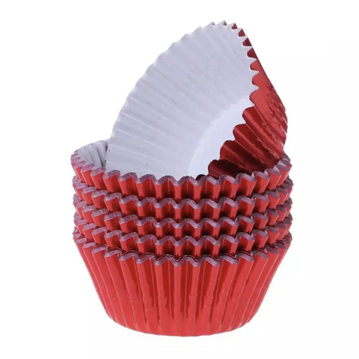 Metallic Red Cupcake Liners & Wrappers-Wrappers & Liners-Bakell