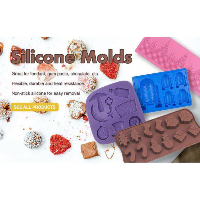 My Little Pony Themed Silicone Mold, 1 Inch | Bakell-Silicone Molds-Bakell- | Bakell.com