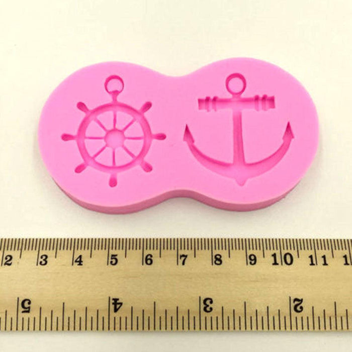 Nautical, Sailing, Skipper, Anchor Themed Silicone Mold-Silicone Molds-Bakell- | Bakell.com