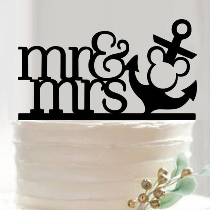 Nautical Wedding Cake Topper - Mr and Mrs-Cake Toppers-Bakell- | Bakell.com