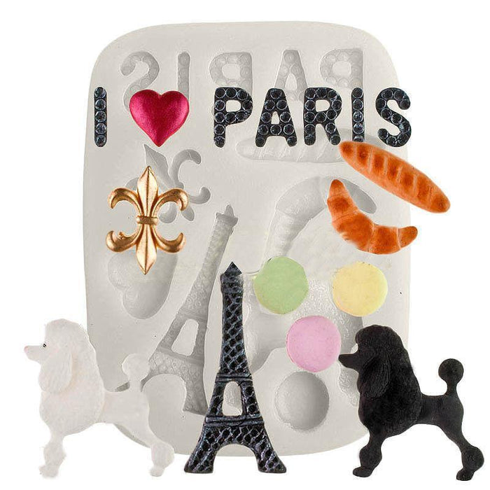 Paris France Vacation, Sights & Travel Silicone Mold-Silicone Molds-Bakell- | Bakell.com