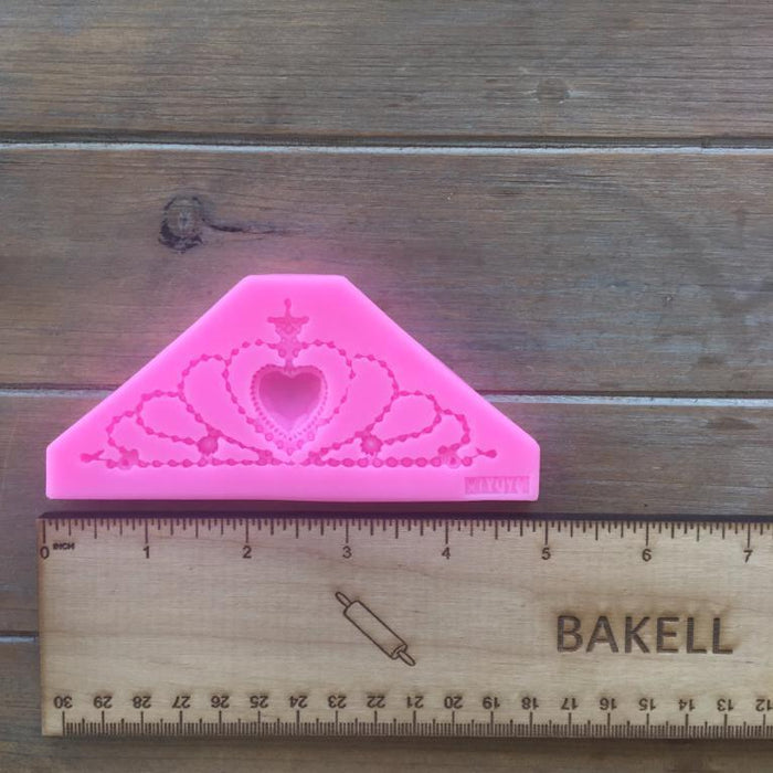 Princess Crown with Heart Silicone Mold | Bakell-Silicone Molds-Bakell- | Bakell.com