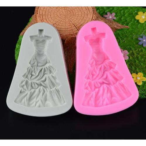 Princess Formal Ball Dress and Gown Silicone Mold (SMALL MOLD)-Silicone Molds-Bakell- | Bakell.com