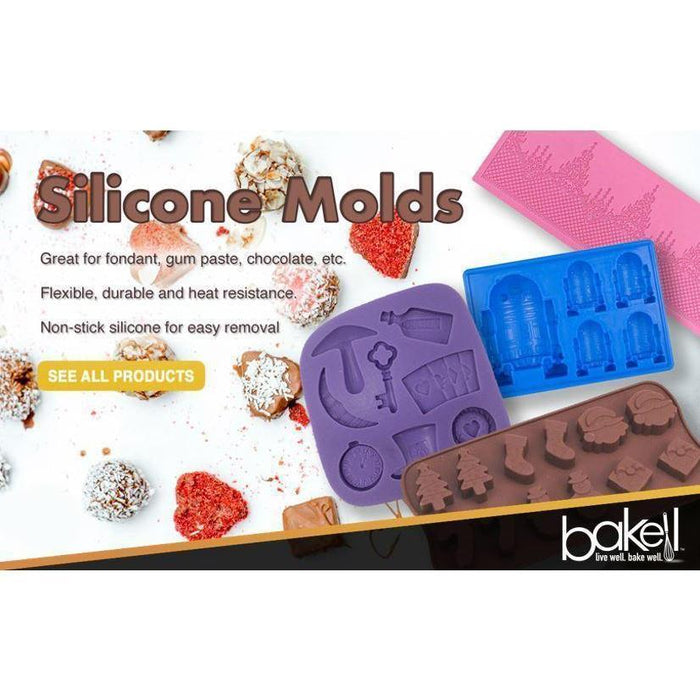 Ribbon and Bows Silicone Mold, 2 x 2 Inches | Bakell-Silicone Molds-Bakell- | Bakell.com
