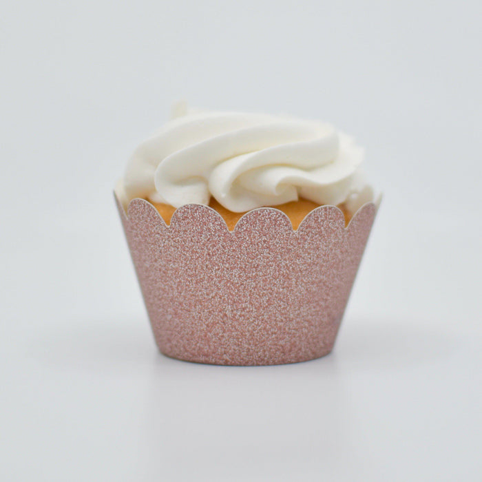 Rose Gold Sparkle Cupcake Wrapper | Bakell.com