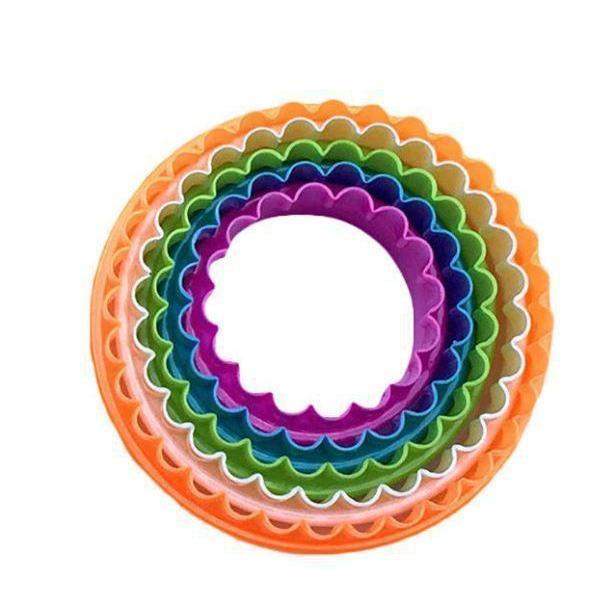 Round Colorful Nested Cookie Cutters Set-Cookie Cutters-Bakell- | Bakell.com