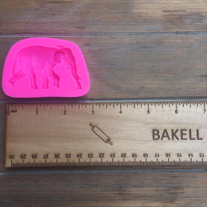 Safari Elephant with tusks Silicone Mold-Silicone Molds-Bakell- | Bakell.com