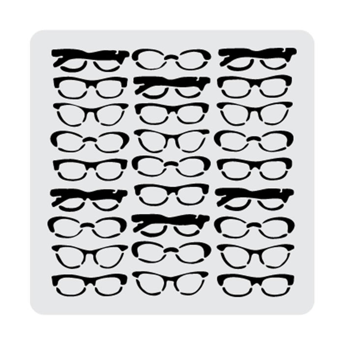 5x5 Sunglasses Reading Glasses Bifocals Spectacles Stencil-Stencils-Bakell