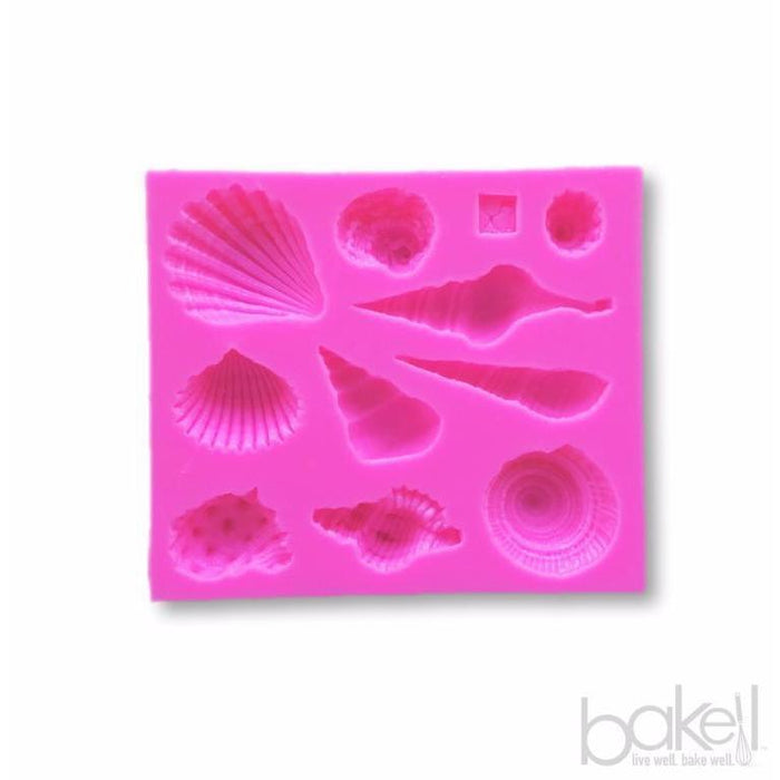 Seashells and Starfish Silicone Mold-Silicone Molds-Bakell- | Bakell.com