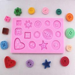 Small Buttons Patterns Decorating Silicone Mold-Silicone Molds-Bakell- | Bakell.com