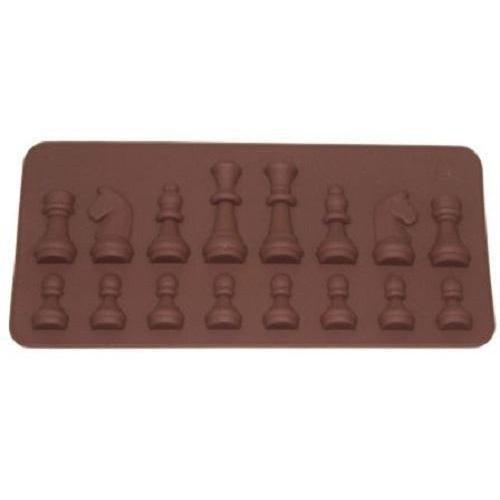 Small Chess Set Silicone Mold, 8 x 3 Inches | Bakell-Silicone Molds-Bakell- | Bakell.com