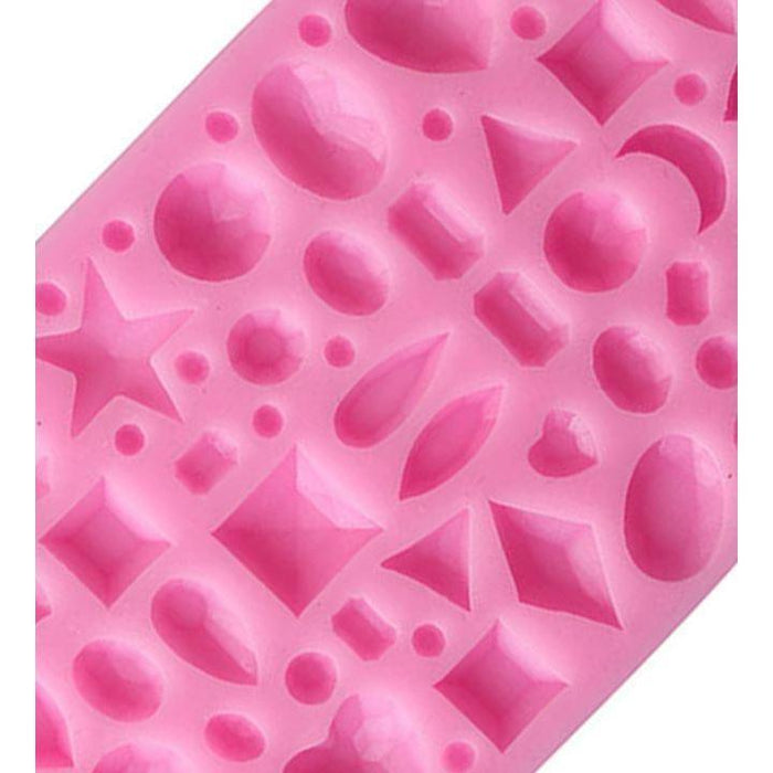 Small Jewels Diamonds and Gems Silicone Mold-Silicone Molds-Bakell- | Bakell.com