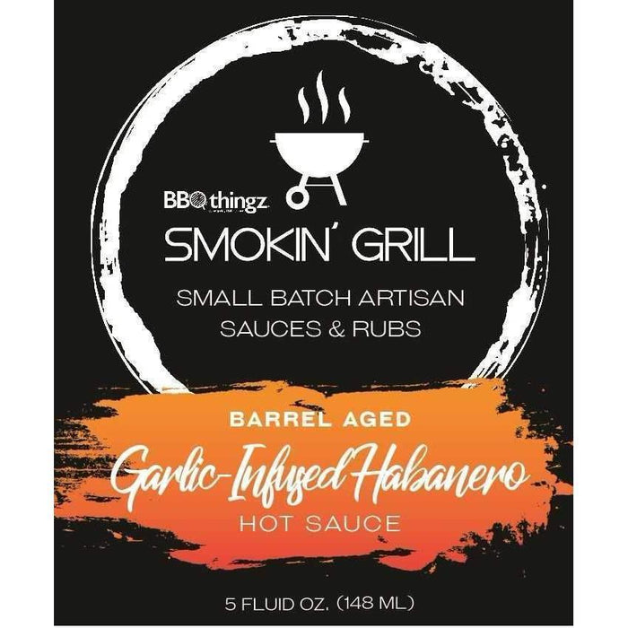 Smokin' Grill | Barrel Aged, Garlic-Infused Habanero Hot Sauce-Hot Sauces-BBQthingz- | Bakell.com