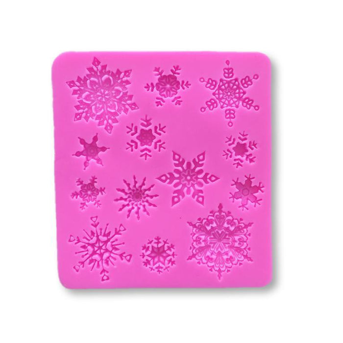 Snowflake Winter / Christmas Theme Silicone Mold-Silicone Molds-Bakell- | Bakell.com