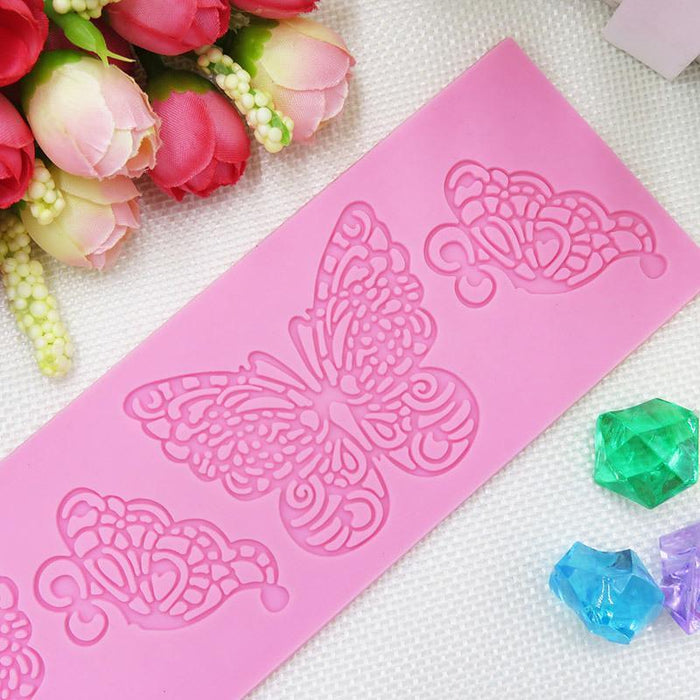 Spring Butterfly Lace Silicone Mat / Mold-Silicone Molds-Bakell- | Bakell.com