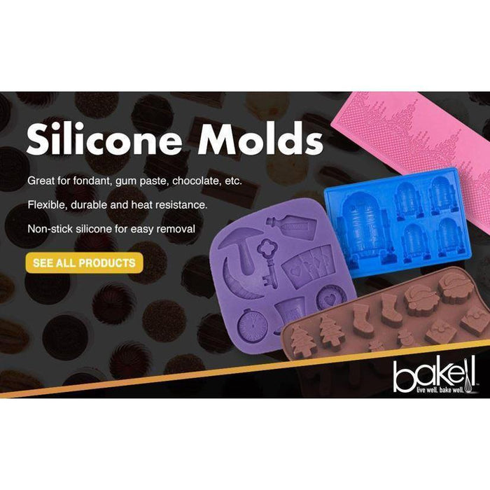 Unicorn Silicone Mold | 2x2 inches | BAKELL.COM