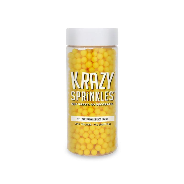 Yellow 4mm Beads Sprinkles by Krazy Sprinkles® | #1 site for sprinkles