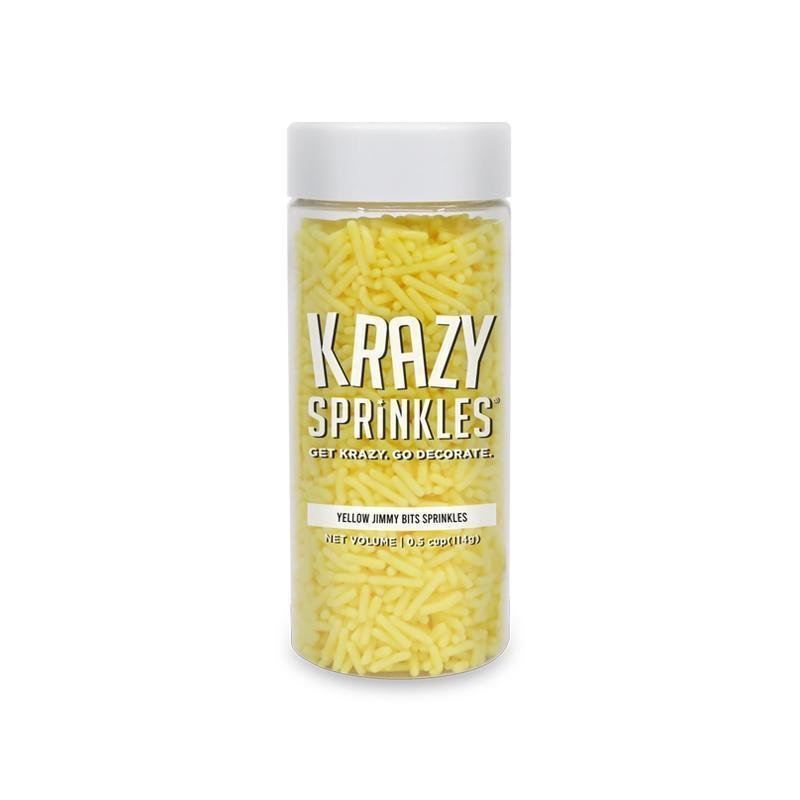 Yellow Jimmies Sprinkles by Krazy Sprinkles® | #1 brand for sprinkles