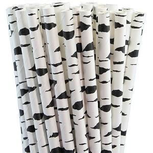 Zebra Print Cake Pop Party Straws | Bulk Sizes-Cake Pop Straws_Bulk-Bakell