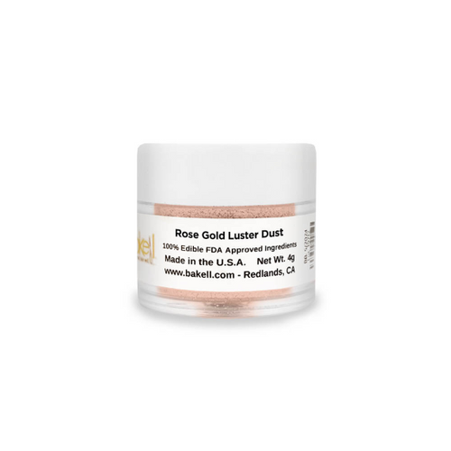 Luster Dust Edible Glitter & Edible Paint | Rose Gold | FDA Approved | 100% Edible | MICA Powder | Bakell.com